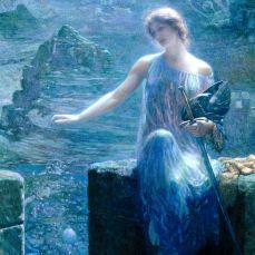 La Walkyrie en sentinelle-Edward Robert Hughes